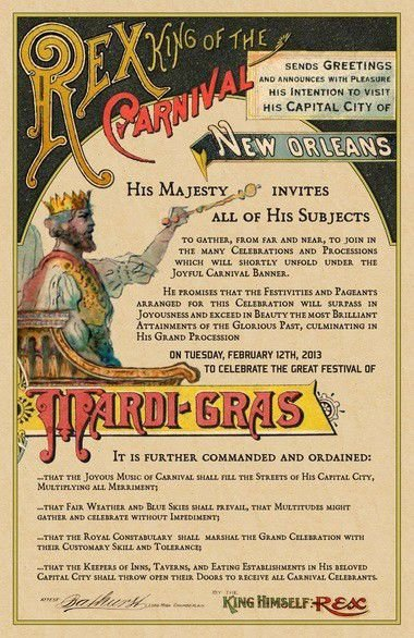 Rex, tourism promoters revive tradition of distributing Mardi Gras summons