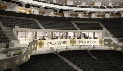 Level 200 Super Vomitory section, view from the bowl of Mercedes-Benz Superdome