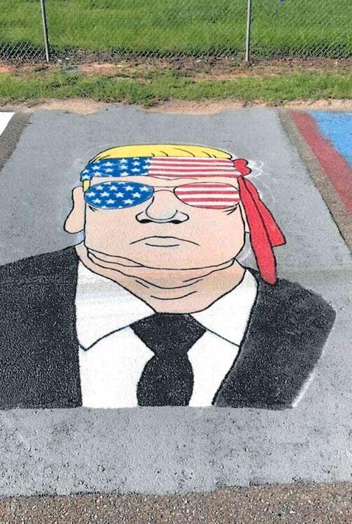 Trump in parking space