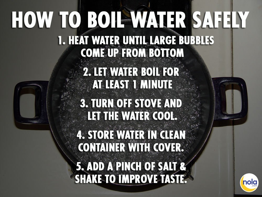 Boil water instructions file photo