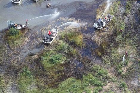 Oil leak from broken pipeline disrupts $36 million BP spill restoration project