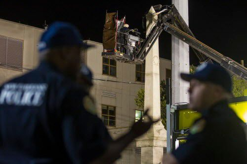 See all 4 Confederate monument removals in New Orleans in photos and video