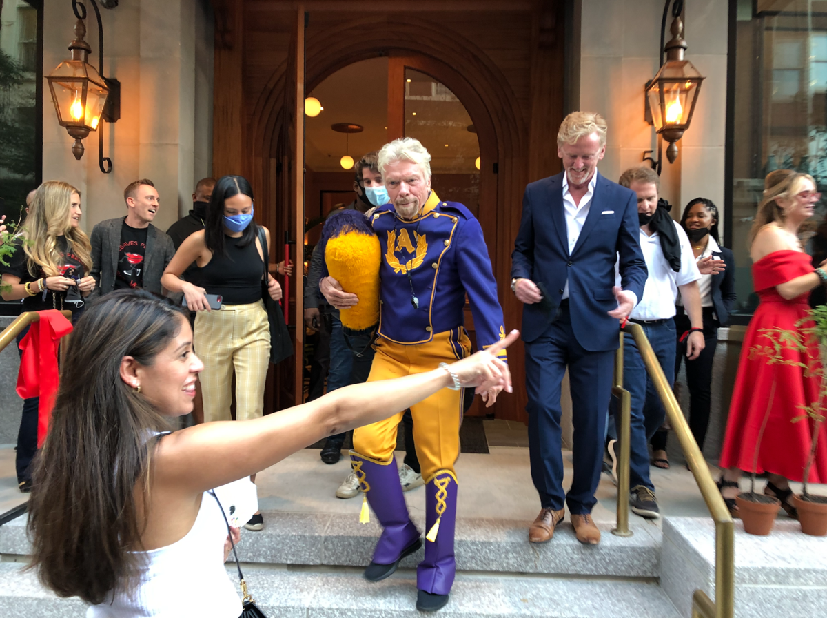 Richard Branson cuts the ribbon on his new $80 million hotel in downtown New Orleans