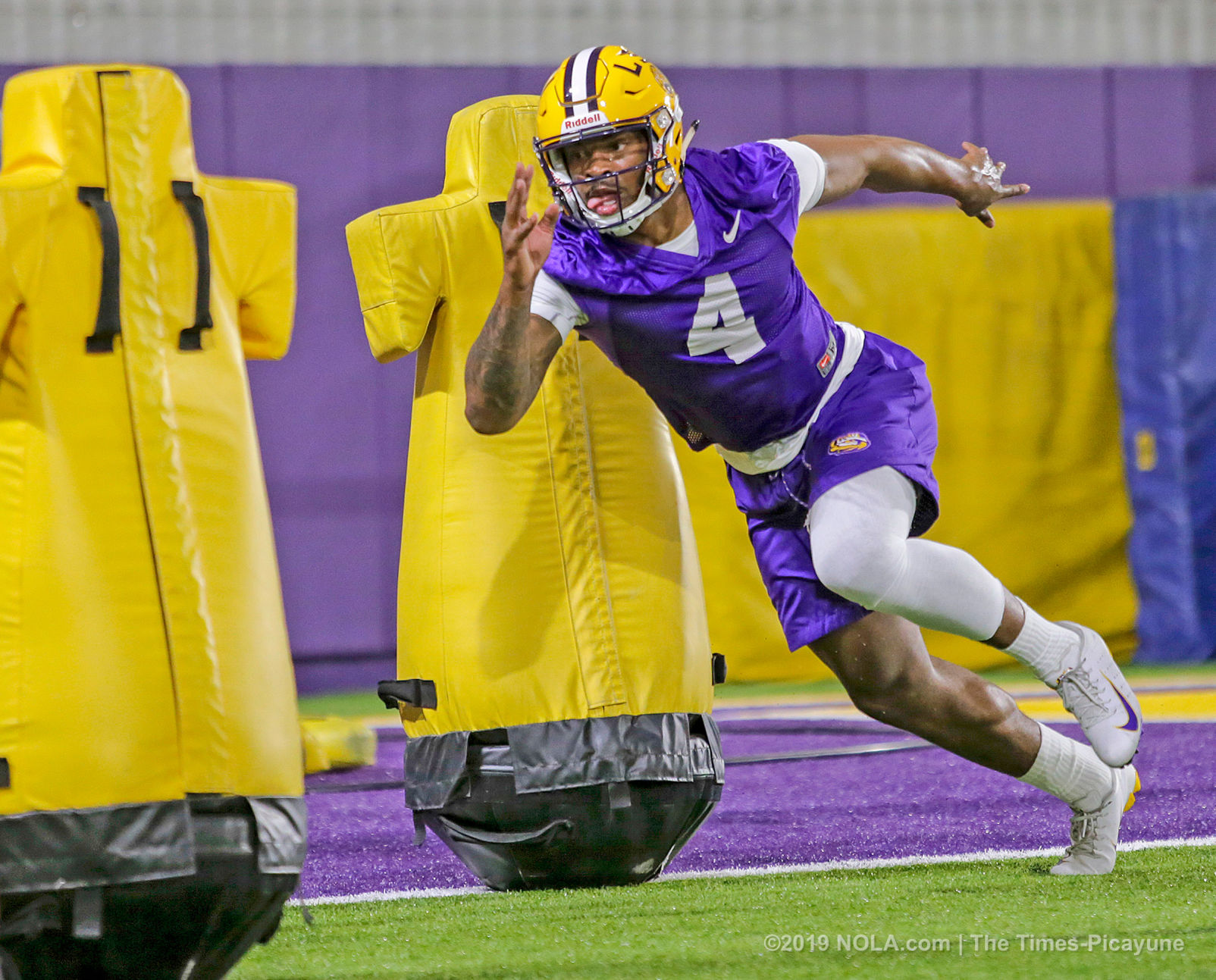 LSU's Jacob Phillips out for spring drills, Ed Orgeron says, other ...