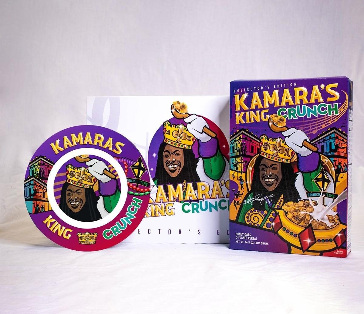 "Kamara's ""King Crunch"" merchandise"
