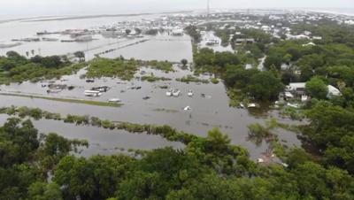 aerial flood video