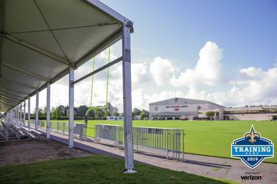 New bleachers at 2019 New Orleans Saints training camp