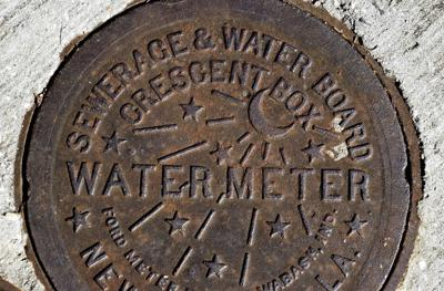 New Orleans Sewerage and Water Board meter cover file photo