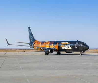 Alaska Airlines stock shot, company supplied