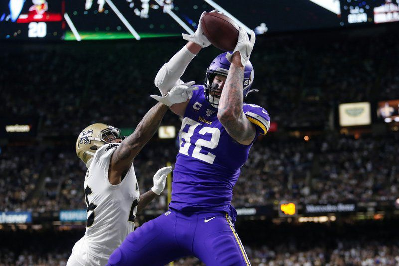 Kyle Rudolph catch Vikings