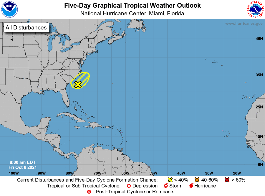 Tropical weather outlook 7am Oct 8