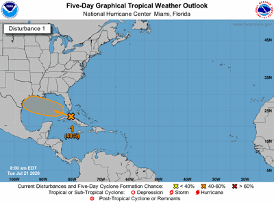 Tropical update Tuesday morning Gulf system