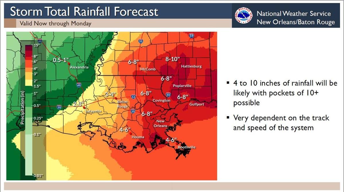 Tropical rainfall chances