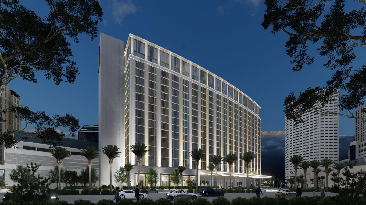Caesars Entertainment formerly Harrah's new hotel rendering