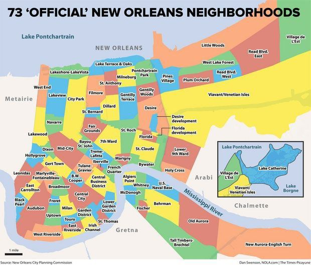 new orleans districts map How New Orleans Neighborhoods Got Their Names Archive Nola Com new orleans districts map