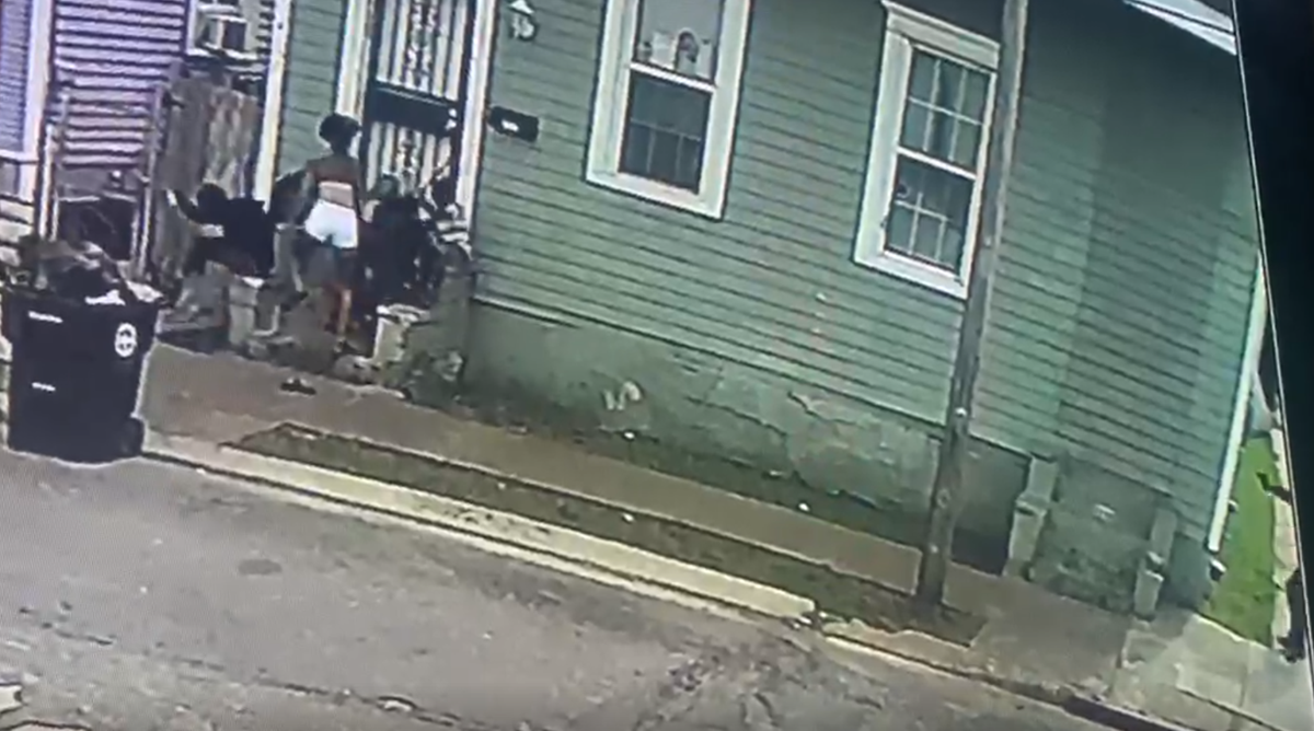Video screenshot 2100 block of Pauger Street on July 13, 2020