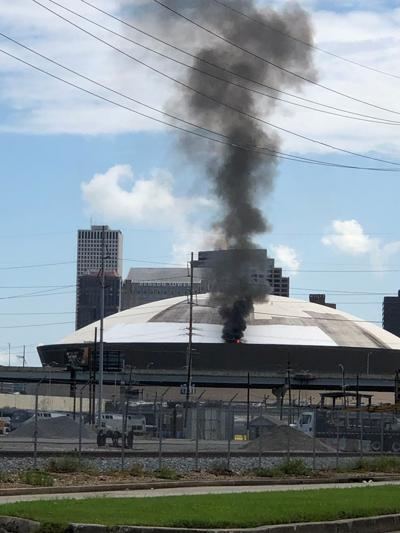 Superdome fire