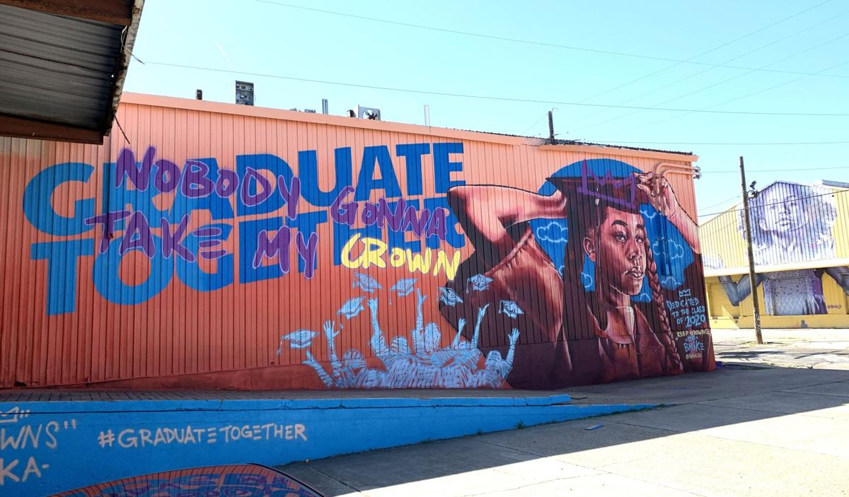 'Graduate Together: Nobody Gonna Take My Crown' mural by Brandan 'BMike' Odums