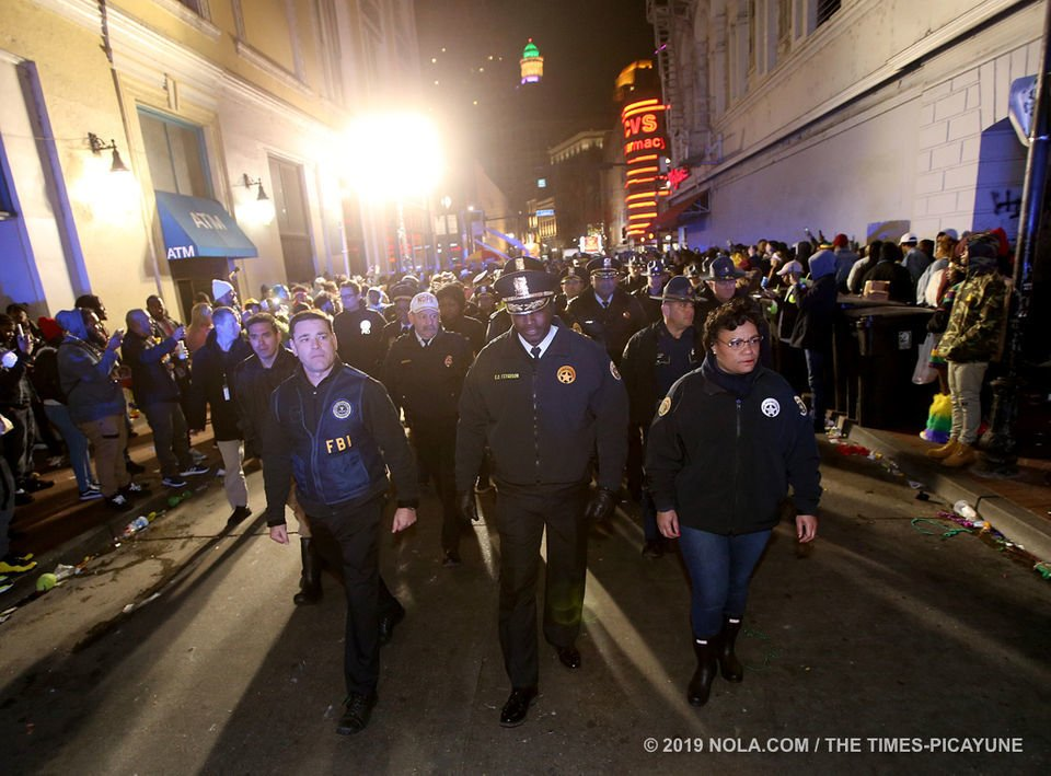 Midnight sweep of Bourbon Street marks the symbolic end to Mardi Gras: See the photos