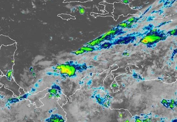 Radar of tropical disturbance in Caribbean June 8