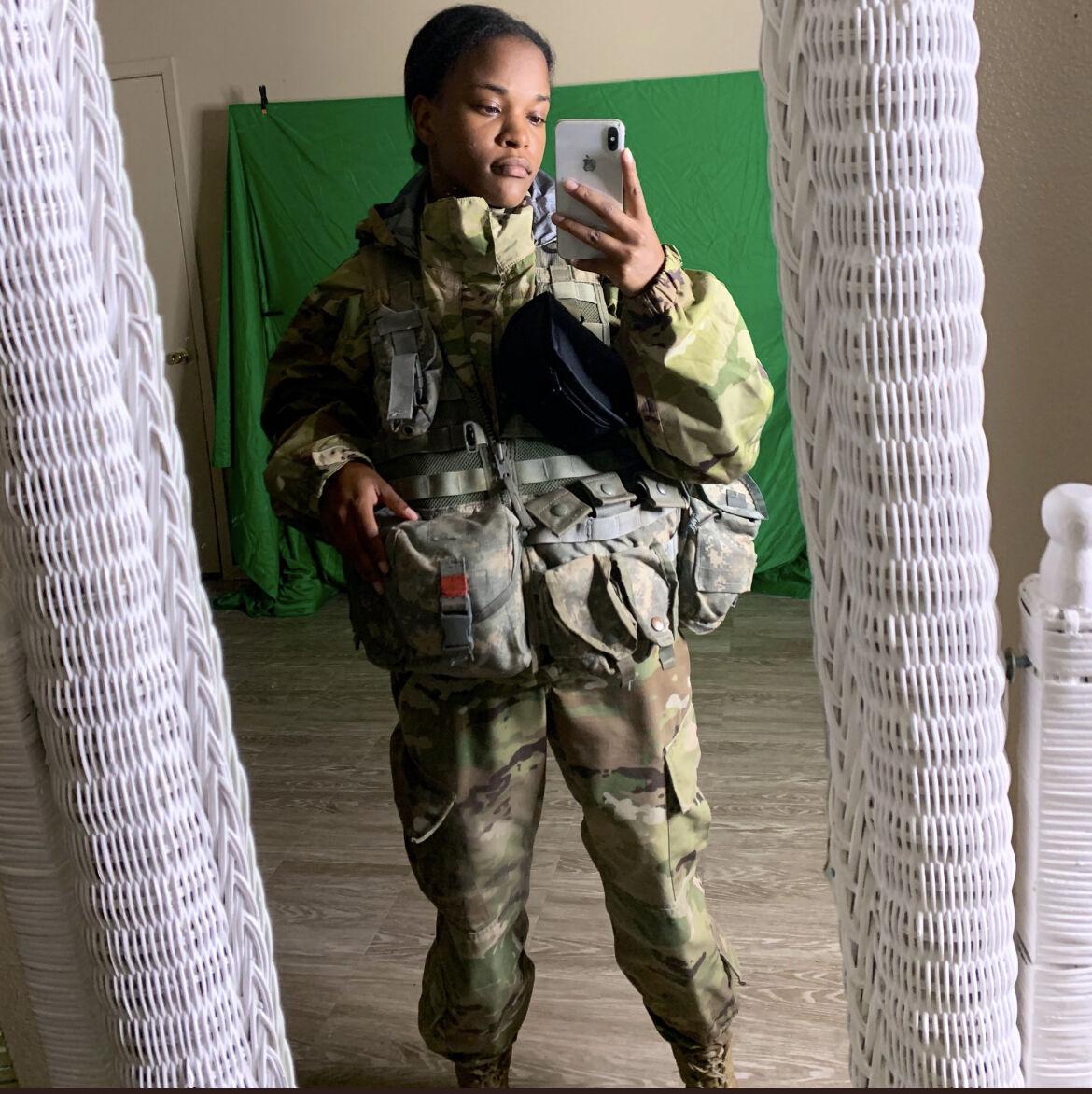 Deja Harrison prepares for duty