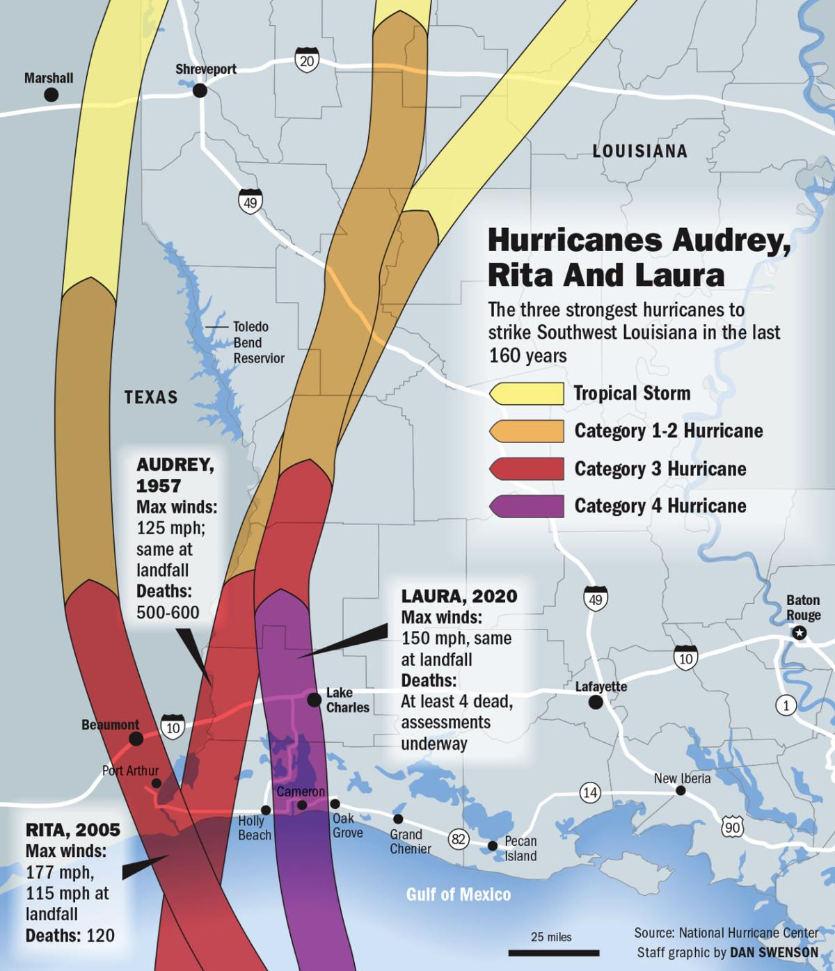 082820 Hurricanes Laura Rita Audrey map