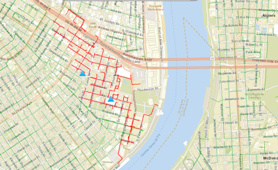 map garden district new orleans Power Outage Hits Swath Of Lower Garden District New Orleans Cbd map garden district new orleans