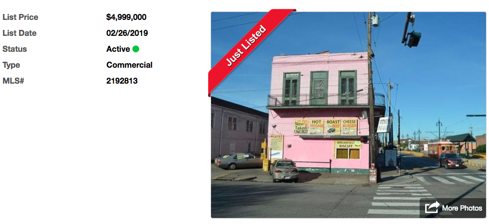 Gene's Po-Boys listed for sale at $5M