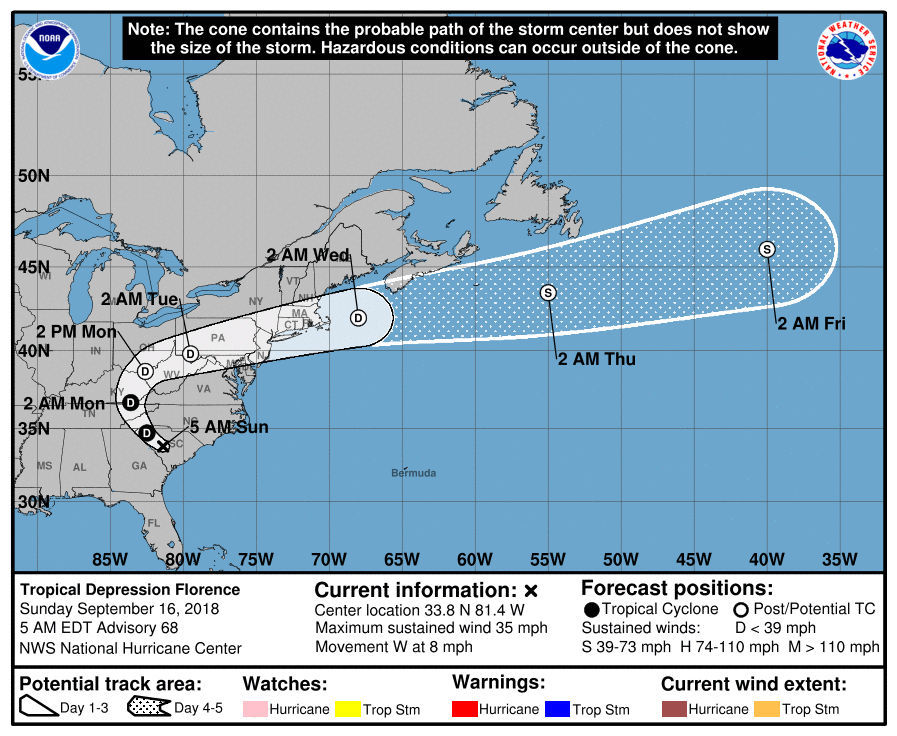 Forecasters track Florence, Helene, Joyce and what's left of Isaac