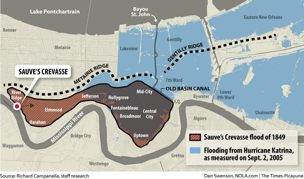 Long before Hurricane Katrina, there was Sauve's Crevasse, one of the worst floods in New Orleans history