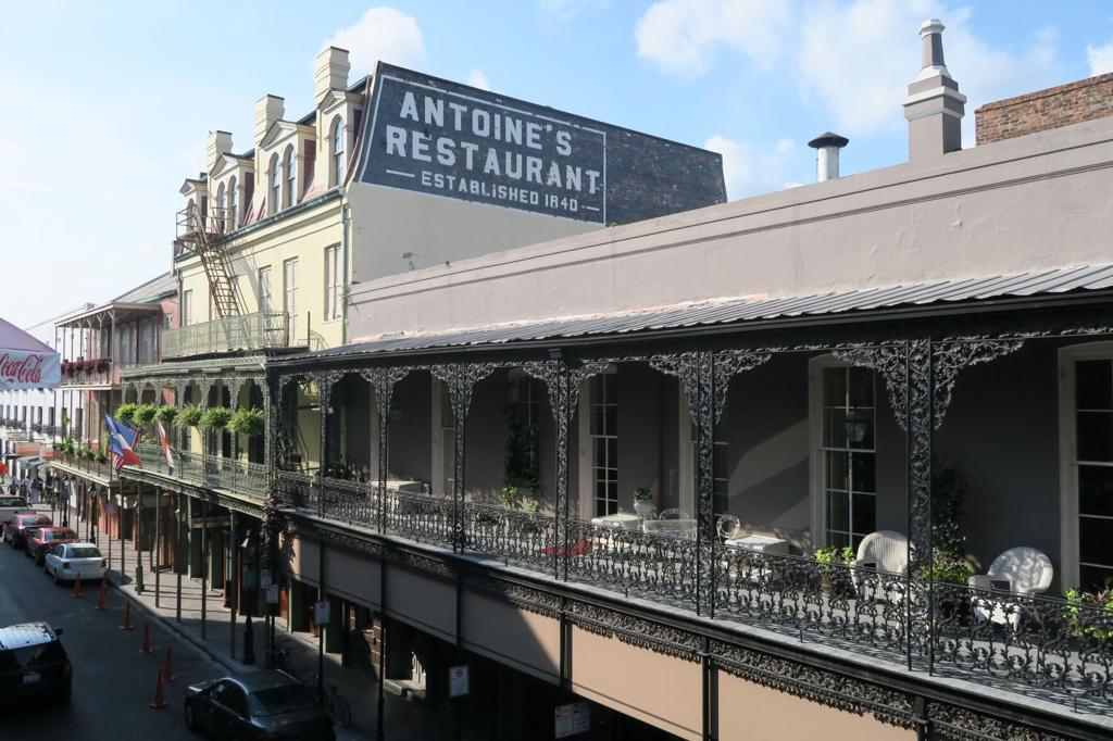NEW ORLEANS ANTOINE/'S RESTAURANT OLDEST FRENCH RESTAURANT IN CITY LINEN POSTCARD