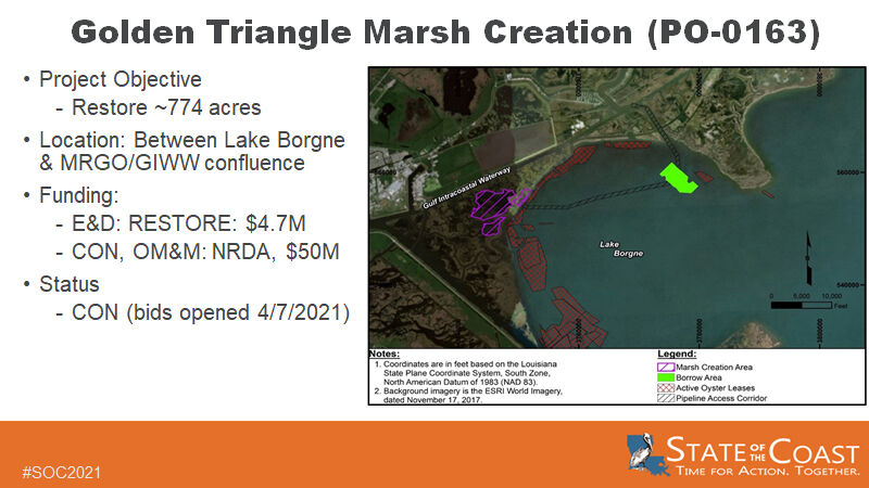 Golden Triangle Marsh Creation project