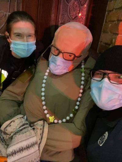 New Orleans EMS with Bernie Sanders decoration