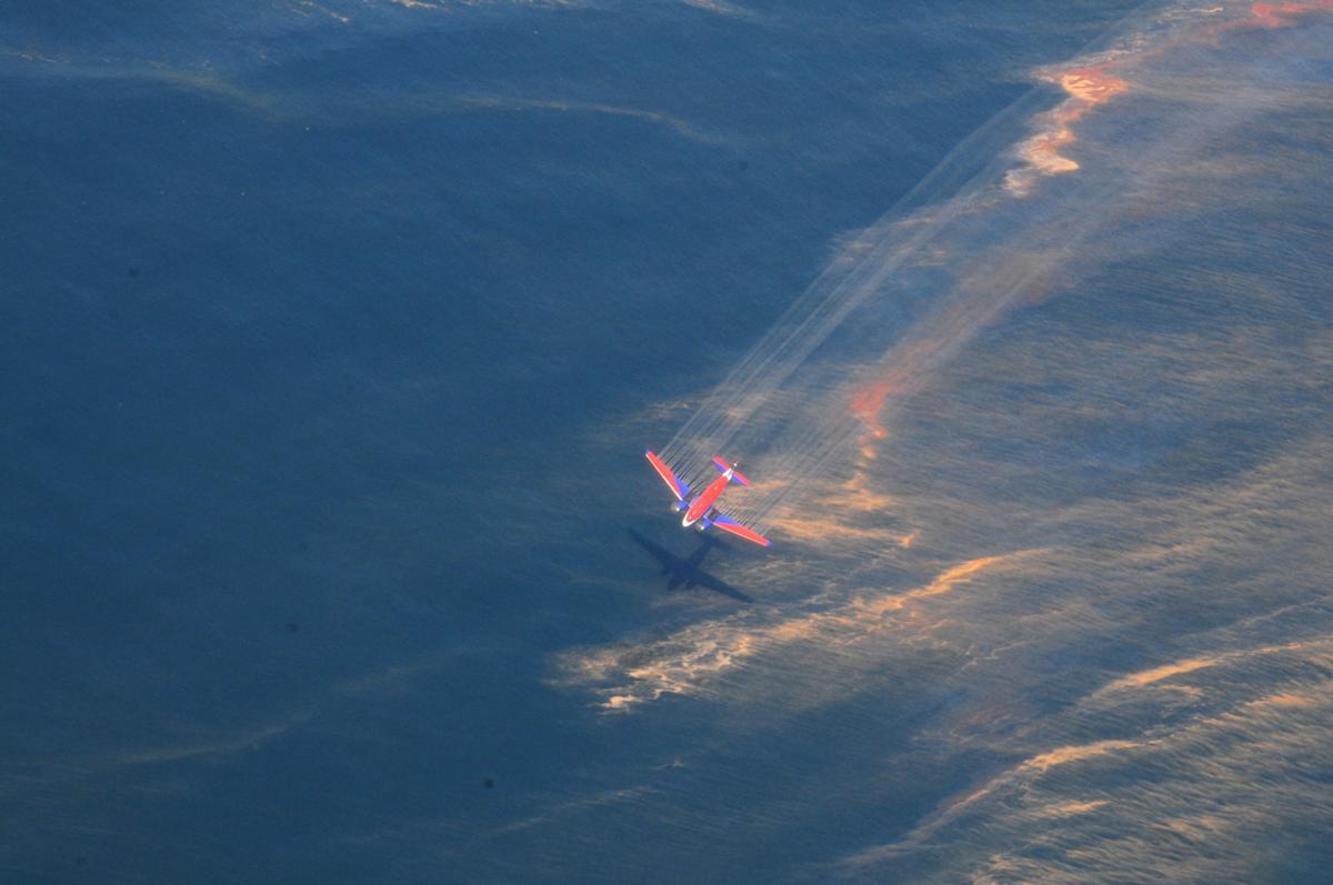 Dispersant spraying during BP spill