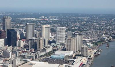New Orleans Downtown Aerial