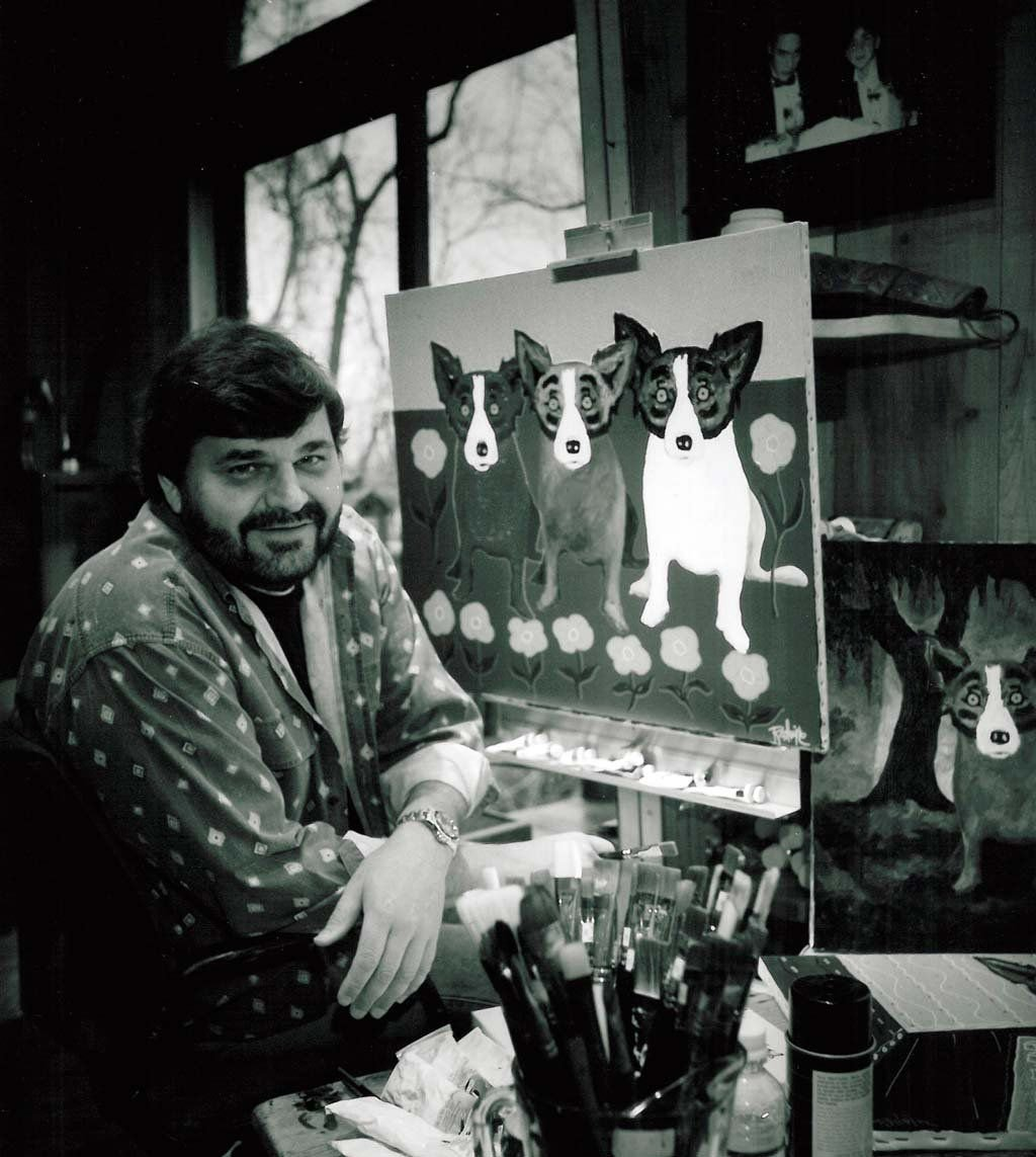 On day of his funeral, Blue Dog artist George Rodrigue memorialized by fans everywhere