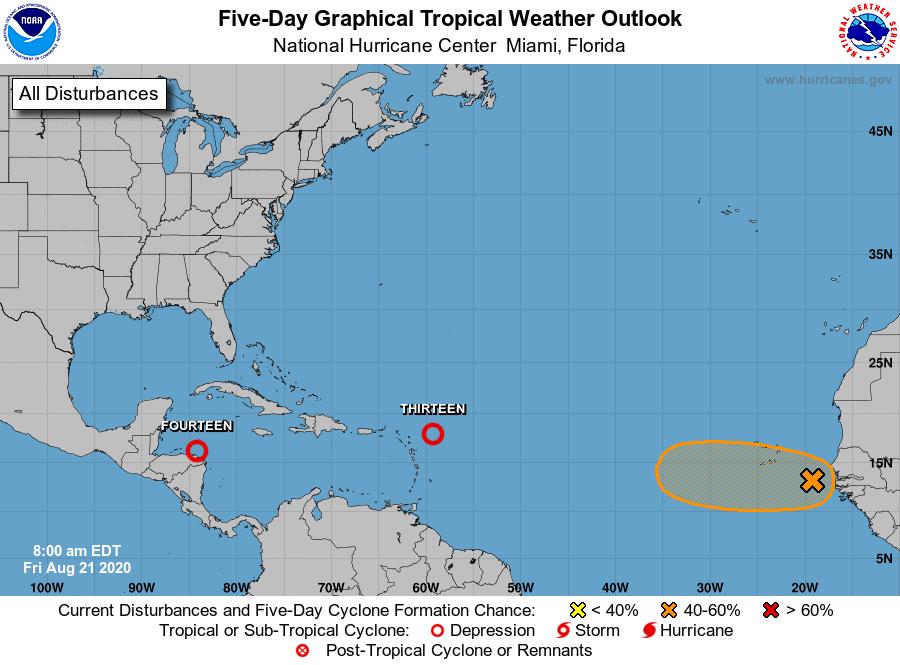 Tropical wave near Africa 7am Friday