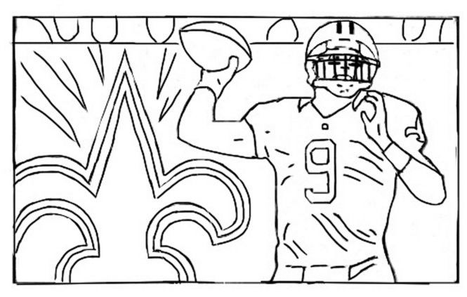 Drew Brees Coloring Book Pages Staying Inside The Side