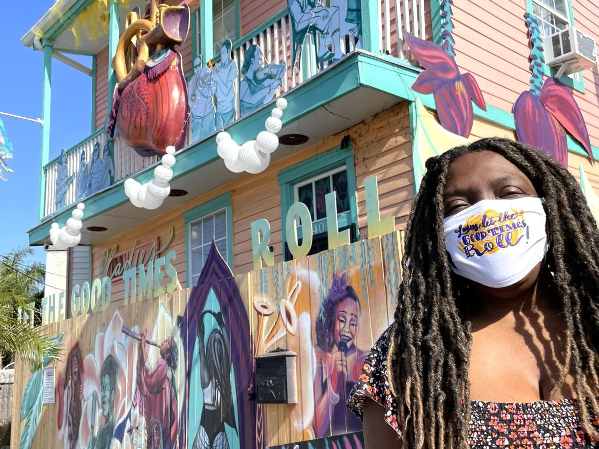 Tricia Diamond with her 'New Orleans Queens of Sound and Soul,' Mardi Gras house float - 2.jpeg