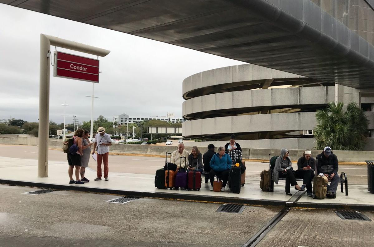 Olga knocks out power at New Orleans airport