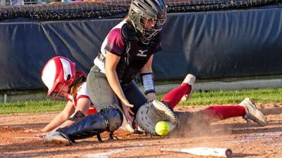 Fontainebleau's Riley Gandy slides in safely