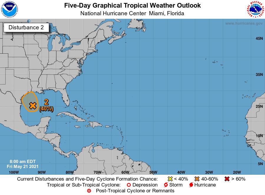 Gulf disturbance 7am Friday
