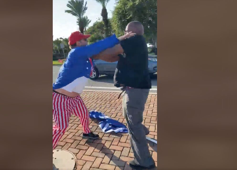 Metairie Trump flag fight September 2020 number 2