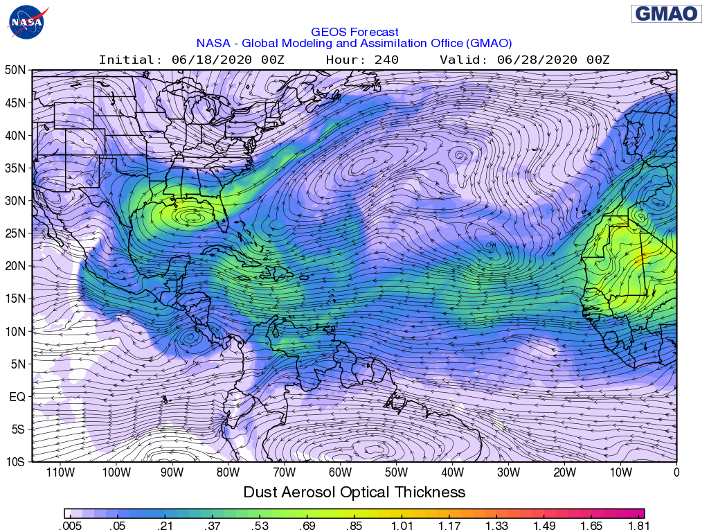Saharan dust to arrive on Louisiana coast
