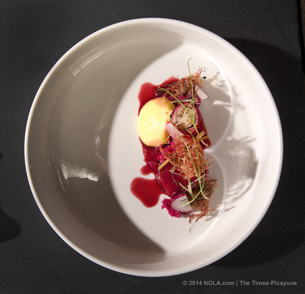 Square Root, a creatively daring New Orleans restaurant, earns four beans