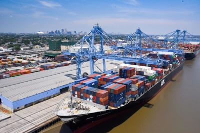 Container cargo at the Port of New Orleans