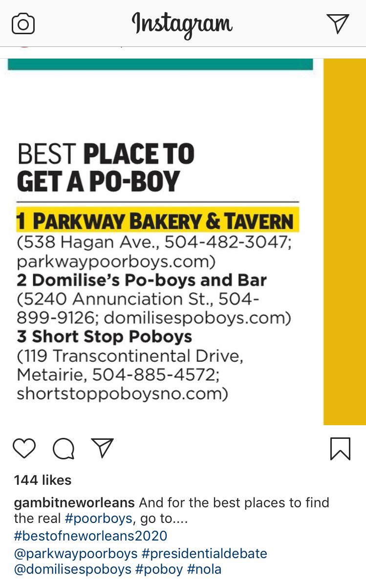 gambit po'boy promo
