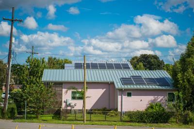 Solar panels on Holy Cross neighborhood house
