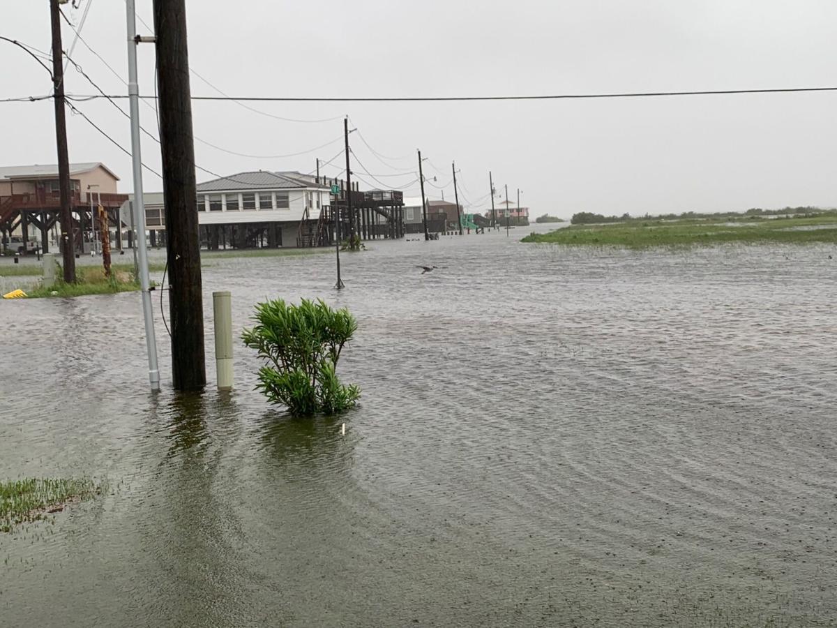 Cristobal street flooding Grand Isle