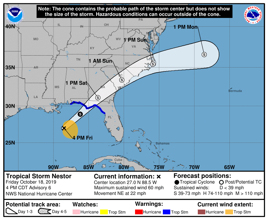 tropical storm nestor chart